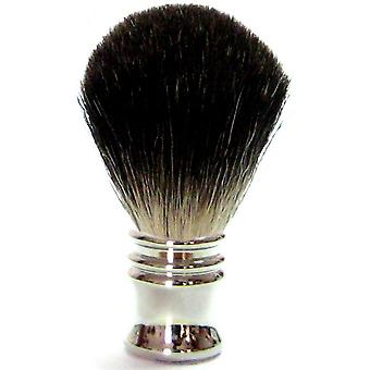 Gold Badger shaving brush with badger hair, metal handle