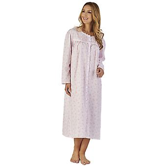 Slenderella ND2202 Frauen Zweig Polycotton Floral Night Gown Loungewear Nachthemd