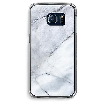 Samsung Galaxy S6 Edge Transparent Case (Soft) - Marble white