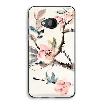 HTC U Play Transparent Case (Soft) - Japenese flowers