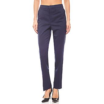 Bruno banani ladies pinstriped Trousers Navy carrot shape
