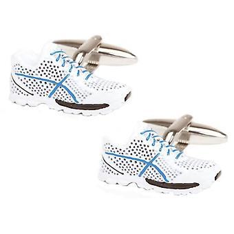 Zennor Trainer Cufflinks - White