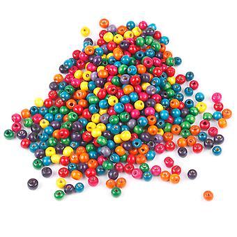 TRIXES 500 blandet farverige træperler 8mm smykker kunsthåndværk halskæde armbånd
