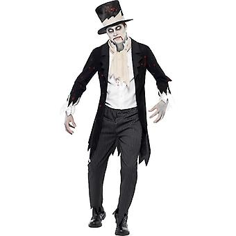 Till Death Do Us Part Zombie Groom Costume, Chest 38