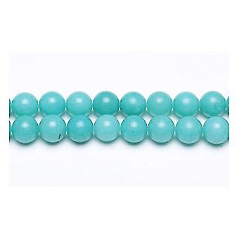 Strand 45+ Turquoise Malaysian Jade 8mm Plain Round Beads GS9949-3