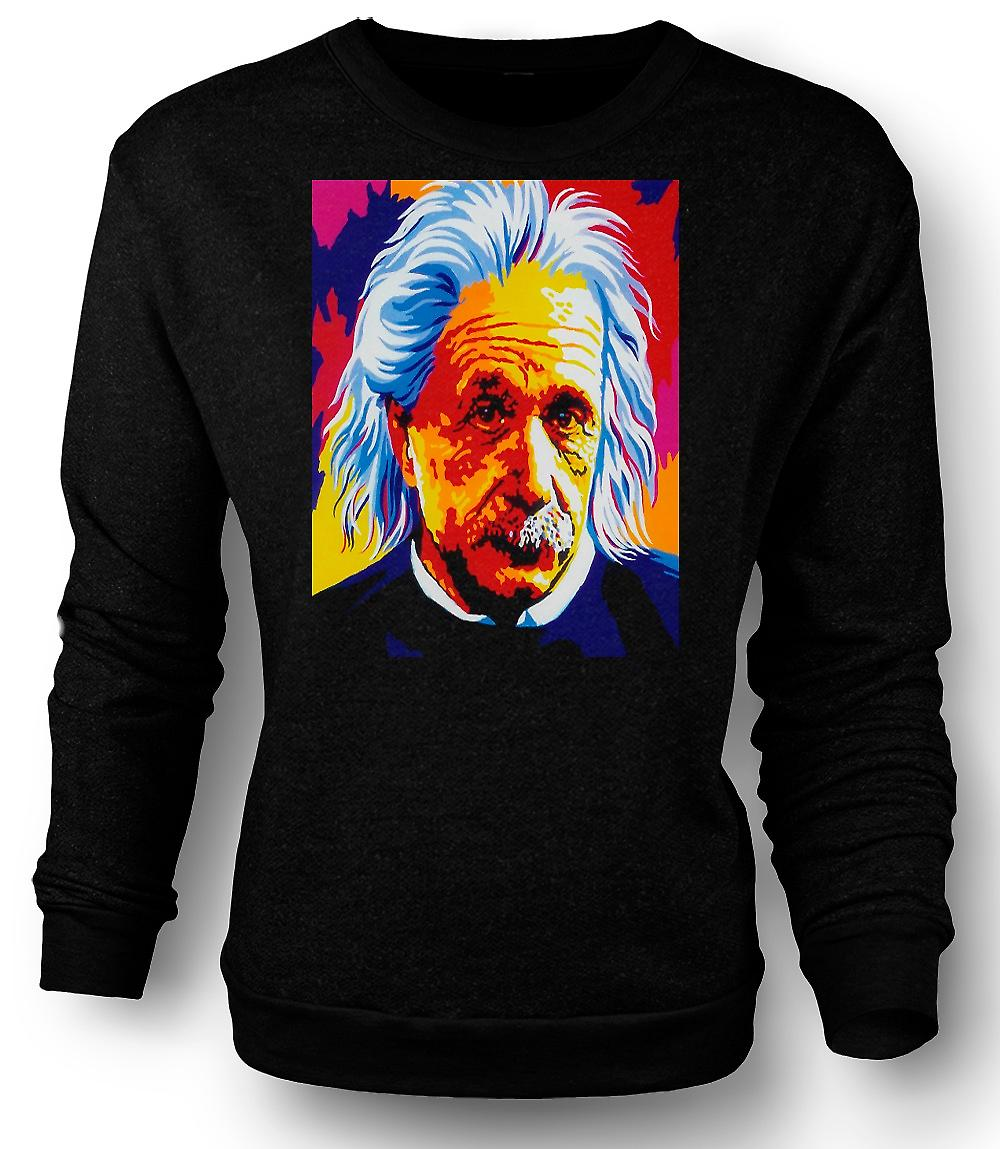 Mens Sweatshirt Albert Einstein - Pop Art