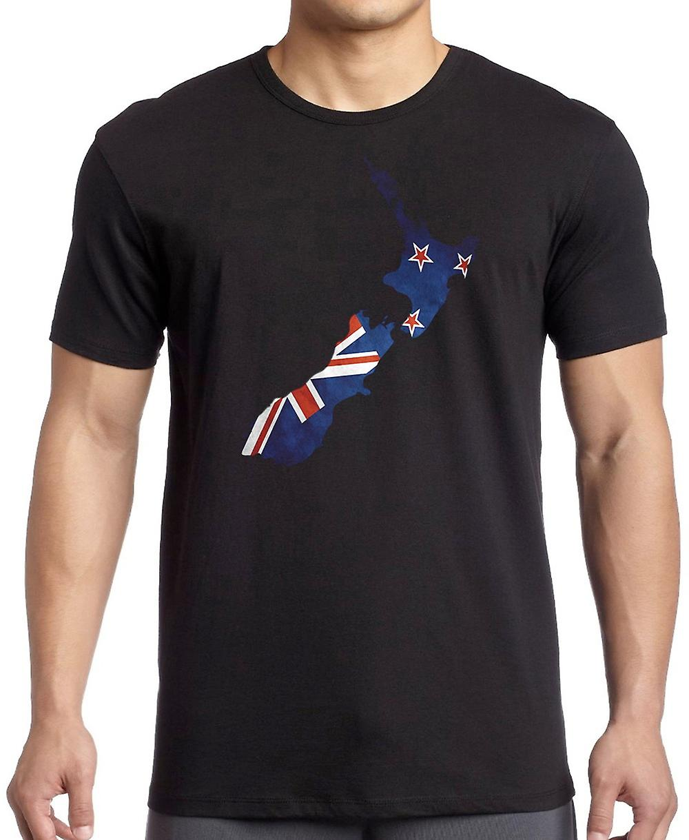 New Zealand Kiwi Flag Map -  Kids T Shirt