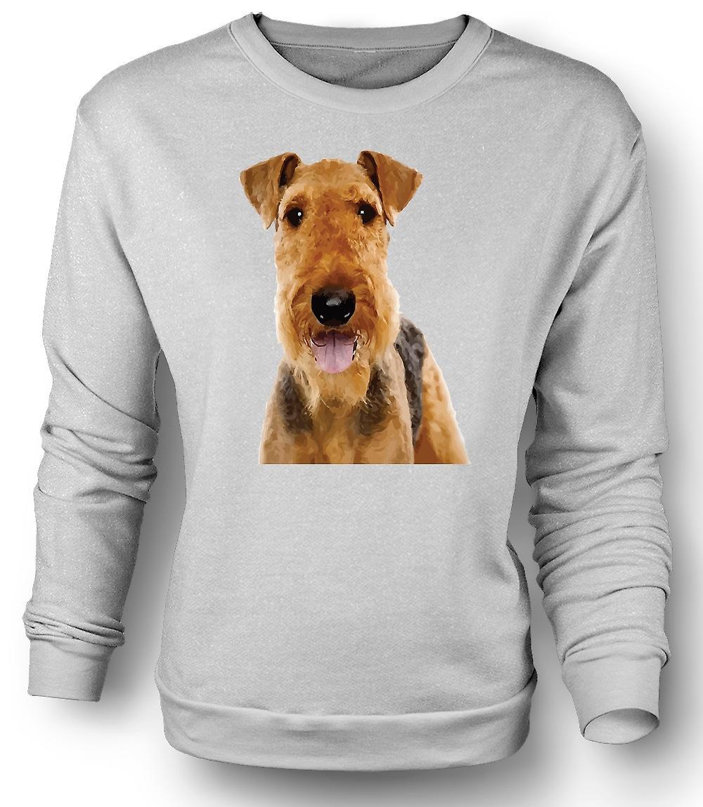 Mens Sweatshirt Airdale Terrier Hund