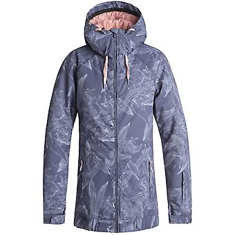 Roxy Crown Blue-Washed Floral Valley Womens Snowboarding Jacket