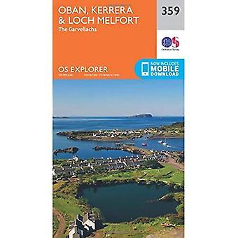 OS Explorer mapa (359) Oban, Kerrera e Loch Melfort