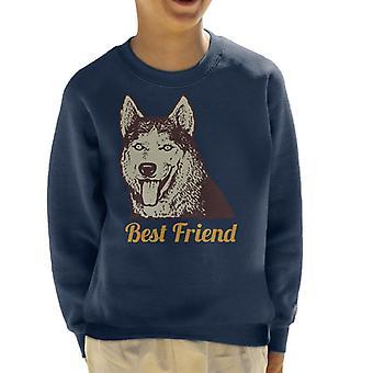 Husky hund bedste ven børne Sweatshirt
