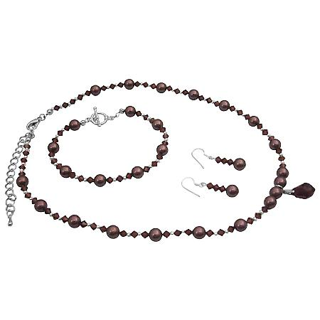 Handmade Elegance Burgundy Jewelry Match Jewelry w/ Your Wedding Dress