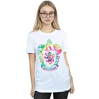 Harry Potter Frauen Gryffindor Crest Tie Dye Infill Freund Fit T-Shirt
