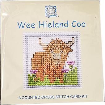 Textile Heritage gezählt Kreuzstich Wee Hieland Coo Karte