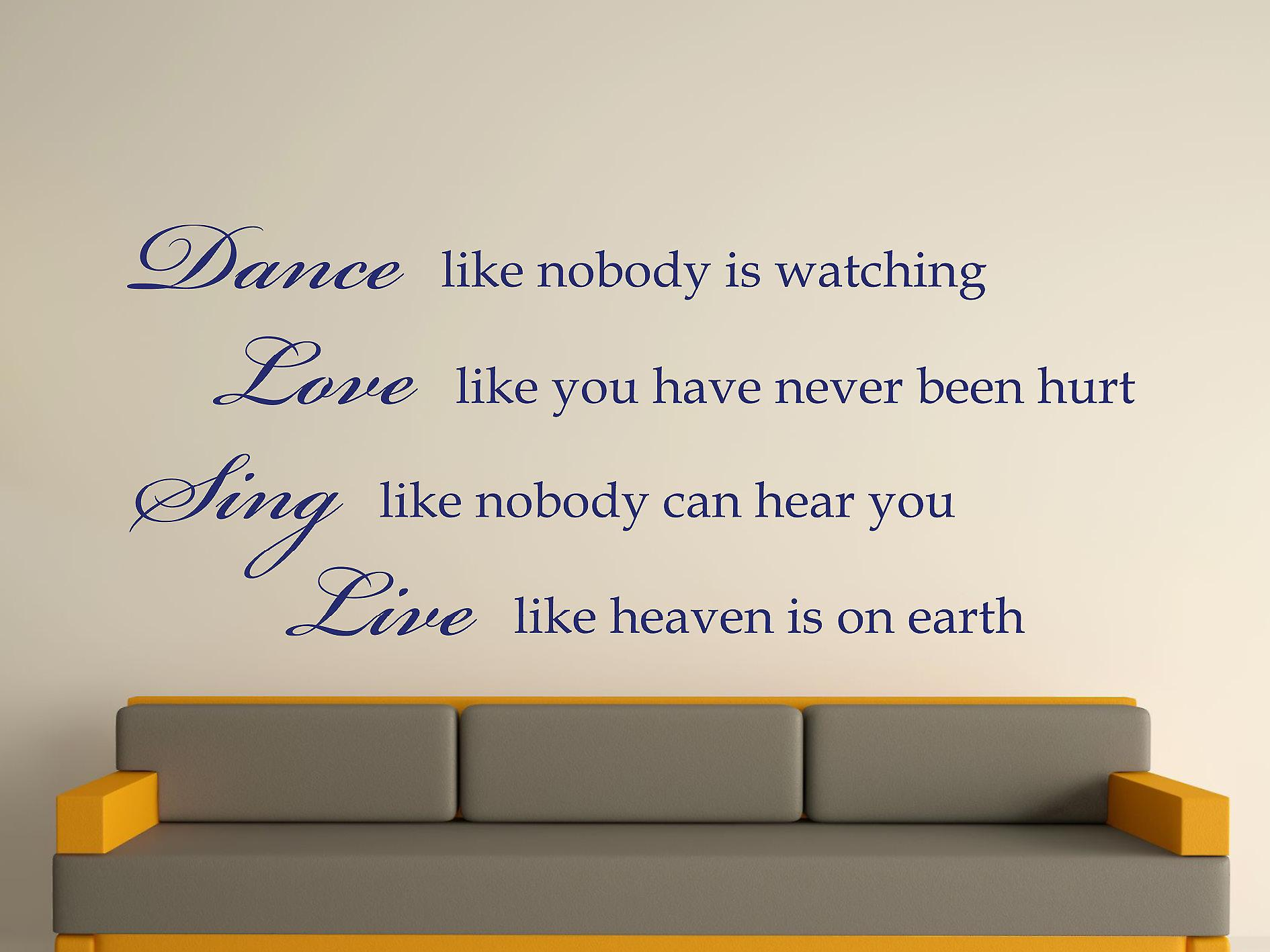 Dance Like Nobody Is Watching Wall Art Sticker - Ultra Blue