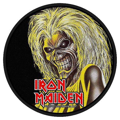 Iron Maiden Killers Head round sew-on cloth patch  (ro)