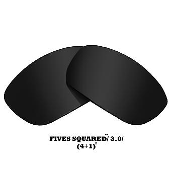 FIVES SQUARED Replacement Lenses Classic Grey by SEEK fits OAKLEY Sunglasses
