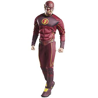Le Flash Deluxe Muscle DC Comics Superhero Book Week Adulte Homme Costume