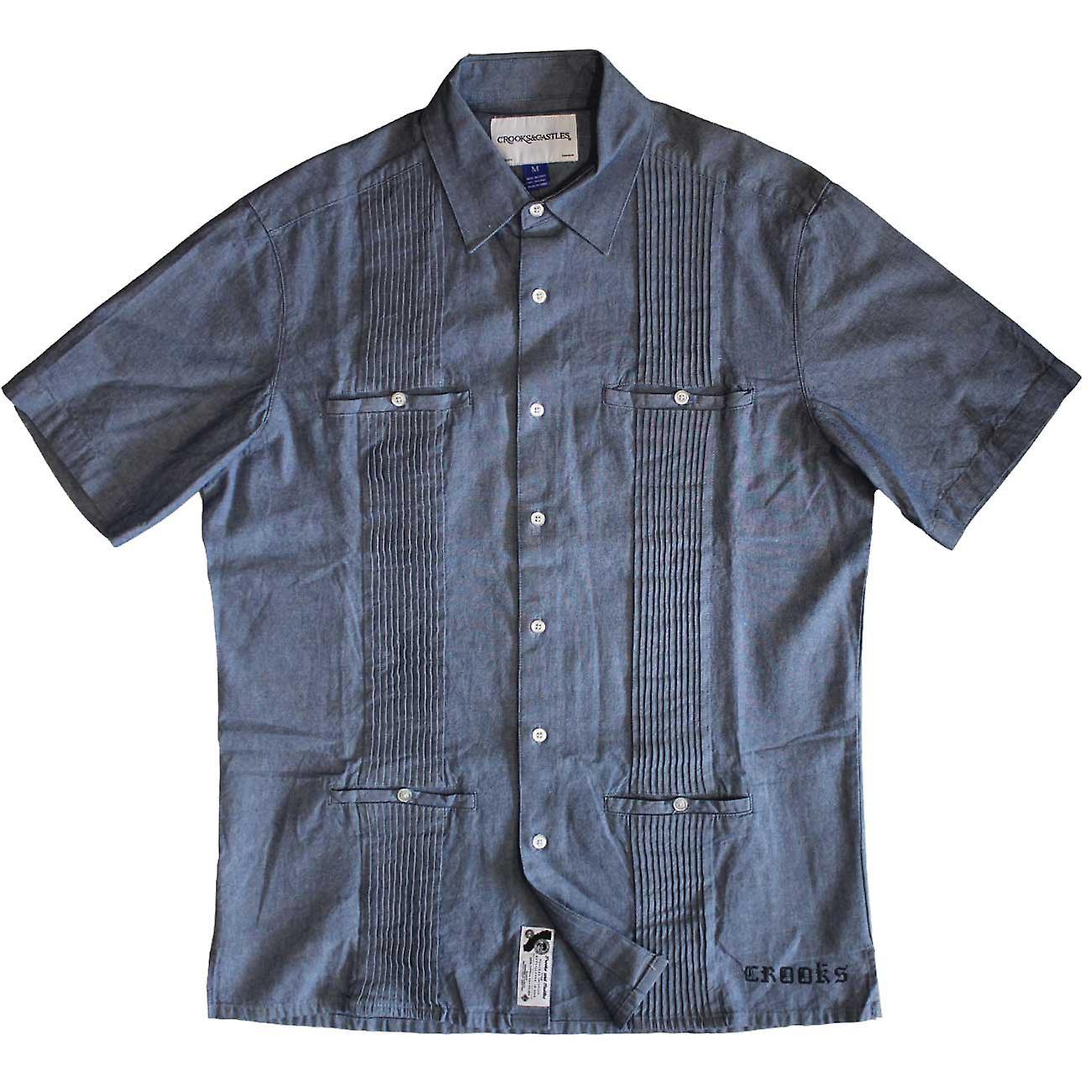 Crooks & Castles Woven Shirt Santiago Chambray