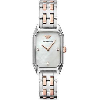 Emporio Armani Ar11146 Gianni T-bar dos tonos acero relojes de damas