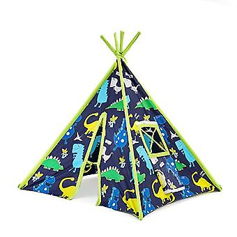 Children's Dino in the Dark Print Foldaway Play Tent Teepee