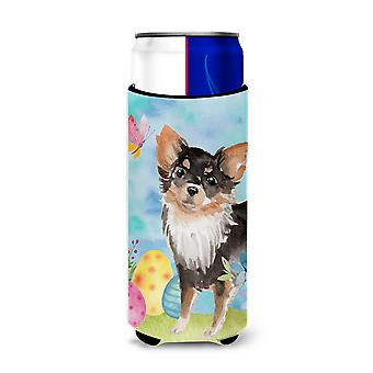 Long Haired Chihuahua Easter Michelob Ultra Hugger for slim cans