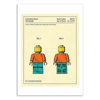 Art-poster-leksaks figur-Jazzberry Blue 50 x 70 cm