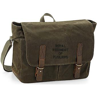 Royal Regiment Of Fusiliers Text - Licenza British Army Ricamato Canvas Messenger Bag