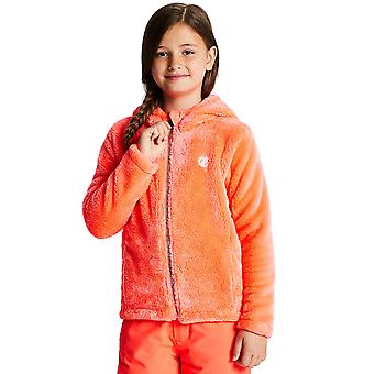 Dare 2b Girls Prelim Full Zip Hooded Polyester Fleece Jacket