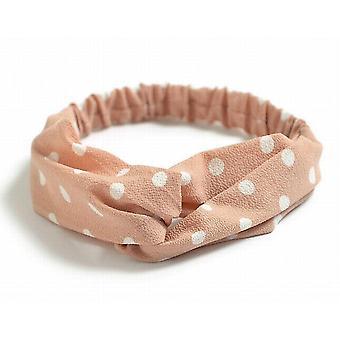 Elastiskt hårband / pannband med knut
