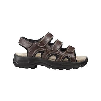 Mens Touch Fasten Leather Sandal