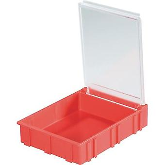 SMD box Red Lid colour: Transparent 1 pc(s) (L x W x H) 68 x 57 x 15 mm Licefa N42361