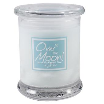Lily Flame Scented Candle in Decorative Jar - Over the Moon