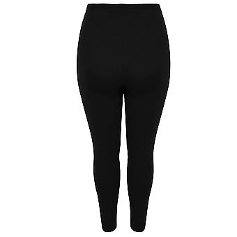 BUMP IT UP MATERNITY  Black Leggings With Tummy Control Panel