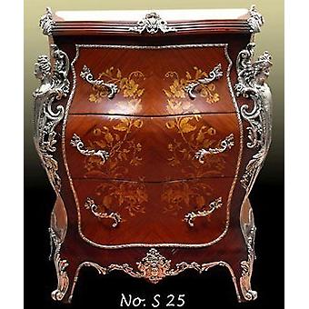 Baroque COMMODE with silver fittings, antique style MoSi00251