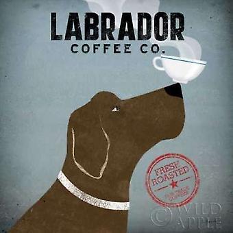 Labrador Coffee Co Poster Print by Ryan Fowler (12 x 12)