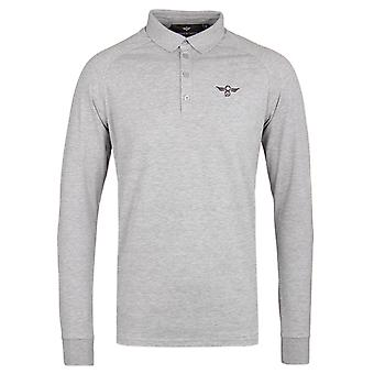 Creative Recreation Tone Long Sleeve Grey Polo Shirt