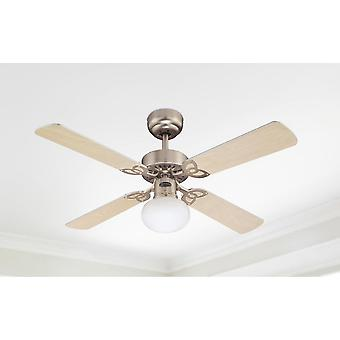 "Westinghouse ceiling fan Vegas Alu 105 cm / 42"" with lighting"