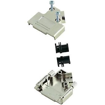 D-SUB housing Number of pins: 9 Plastic, metallised 45 ° Silver MH Connectors MHD45PK-9-K 1 pc(s)