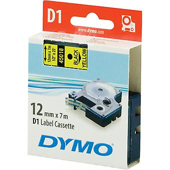 DYMO D1 tapes standard 12 mm, black on yellow, 7 m roll