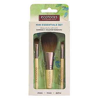 Ecotools Essencial Mini Set - Travel Kit With 3 Essential Paintbrushes