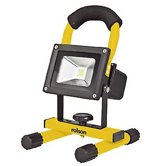 Portable Cordless 10W LED Rechargeable Work Light With Mains And Car charger