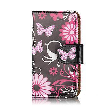 Design book PU leather case cover for Nokia Lumia 800 - Gerbera