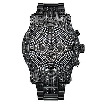 JBW diamond men's stainless steel watch LYNX - black