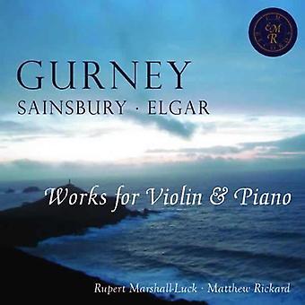 I. gurney - Sonate for Violin & klaver i E flade store [CD] USA import