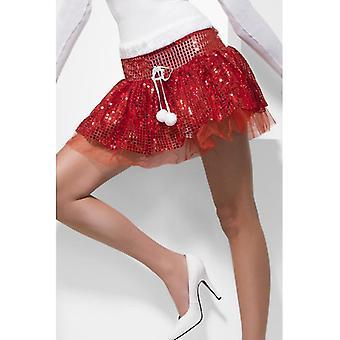 Санта пачка юбки юбку красный глиттер Рождество Санта-Клауса