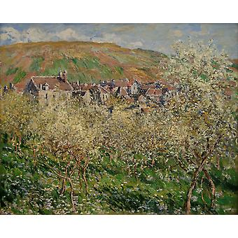 Claude Monet - Plump trees in blossom Claude Monet Poster Print Giclee