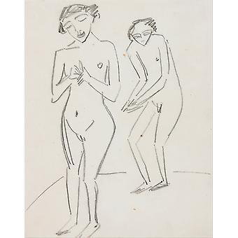 Ernst Ludwig Kirchner - Two People Poster Print Giclee