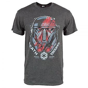 Star Wars hombre Star Wars Rogue Escuadrón un casco T camisa carbón