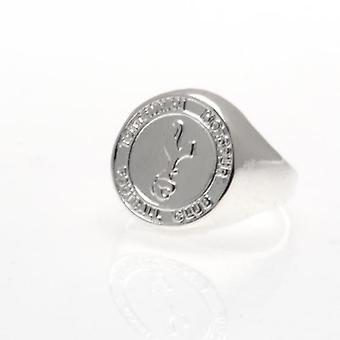 Tottenham Hotspur Silver Plated Crest Ring Medium